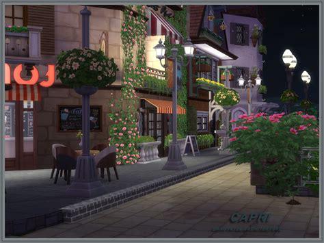 capri cafe house sims  houses
