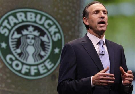 Why Starbucks' Howard Schultz Looks For Better Race Relations