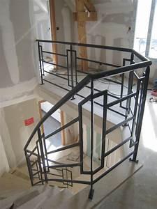Escalier Bois Intérieur : rampe escalier bois interieur 3 rampes descalier en fer ~ Premium-room.com Idées de Décoration