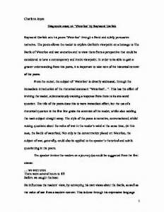 Sample Essay Proposal Diagnosis Paper Example Essay On English Language also Literary Essay Thesis Examples Diagnostic Essay Example Introduction Thesis Example English  English Language Essays