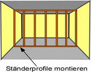 Trennwand Dachschräge Selber Bauen : trockenbau trennwand bauen diy abc ~ Markanthonyermac.com Haus und Dekorationen
