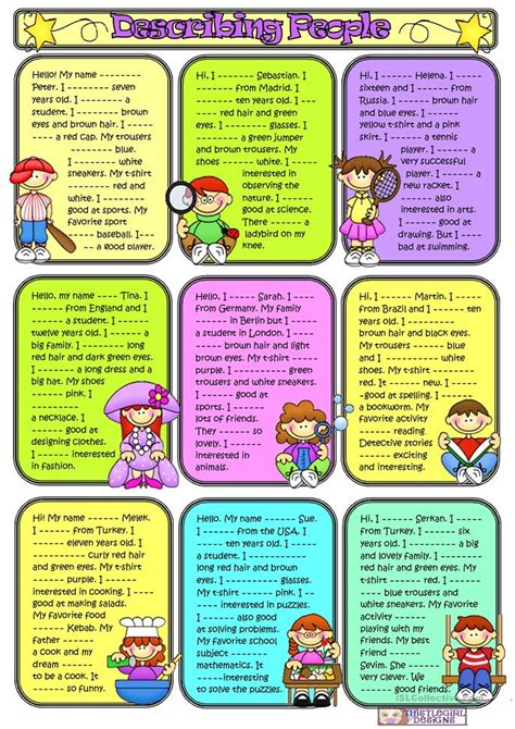Describing People3 Worksheet  Free Esl Printable Worksheets Made By Teachers