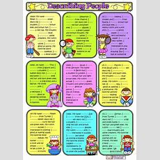 Describing People3 Worksheet  Free Esl Printable Worksheets Made By Teachers