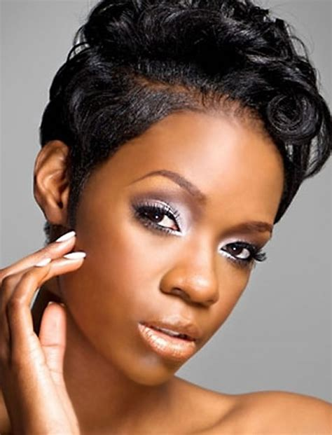 short hairstyles  black women   models