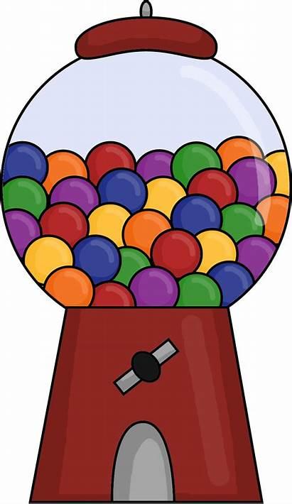 Gumball Machine Clipart Clip Gum Bubble Cliparts