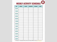 Daycare & Preschool Weekly Schedule
