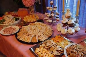 bridal shower for large groups wedding reception finger food menus easy finger