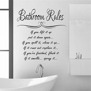 funny bathroom vinyl wall quotes quotesgram With bathroom sayings funny