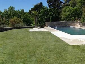 Travertin Exterieur Piscine : am nagement ext rieur terrasse travertin et pelouse m diterran en piscine other metro ~ Nature-et-papiers.com Idées de Décoration