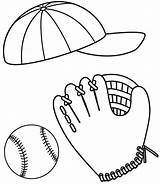 Baseball Coloring Pages Cap Glove Ball Colouring Hat Printable Clipart Drawing Bat Bats Colornimbus Picolour Clipartbest Softball Sheets Quilt Getcoloringpages sketch template