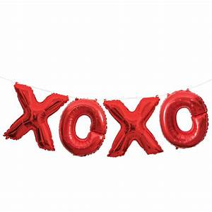 foil red xoxo letter balloon banner kit little lulubel With little letter balloons