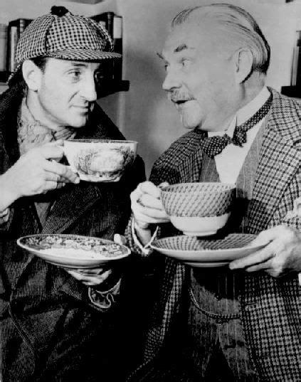 sherlock tea holmes watson basil rathbone drinking bruce nigel profile cup dr bigelow coffee john lover benedict painting box frederic