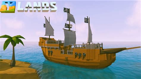 How To Make A Boat Ylands by Ylands How To Build A Pirate Ship Speed Build
