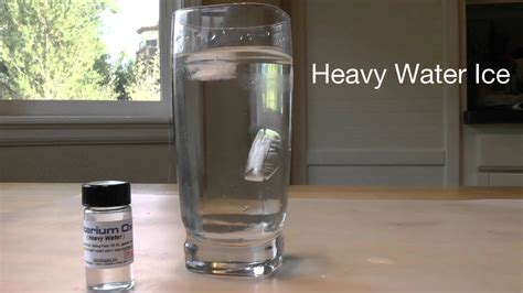 water heavy ice experiment
