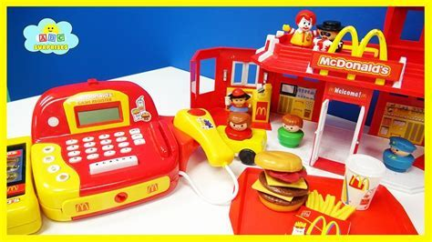 Mcdonalds Drive Thru Happy Meal Toy foods Playset for Kids