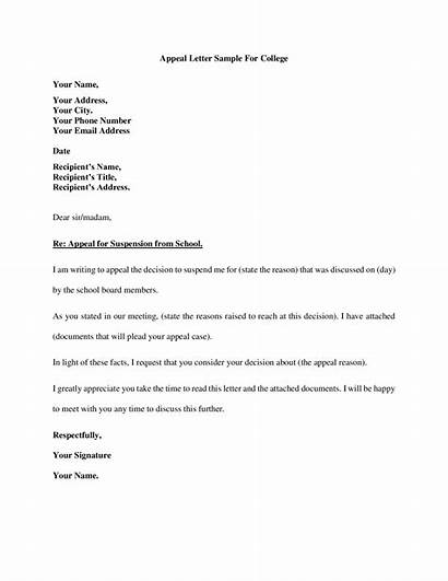 Appeal Letter Sample College Cms