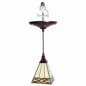 Pendant lights for recessed cans : Worth home products instant pendant series light antique