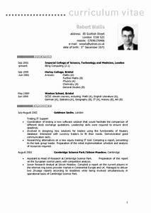 example of european curriculum vitae format With british cv template