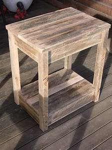 DIY Pallet Side Table/Nightstand 99 Pallets