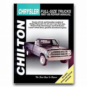 Chilton Repair Manual For 1977-1988 Dodge W150
