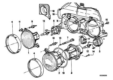 Bmw E30 Part Diagram by Original Parts For E30 M3 S14 Cabrio Lighting Single