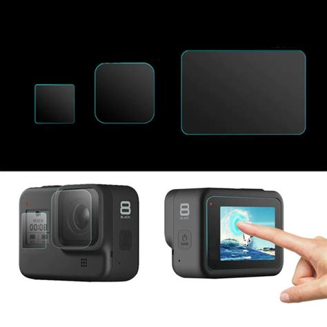 lens lcd lens screen protector film tempered glass set