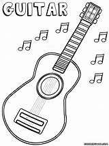 Guitar Coloring Pages Guitar1 sketch template