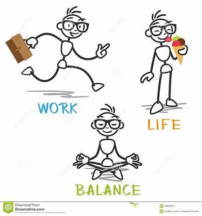 Equilibrio Lavoro Vita Balance Stick Bastone Vettore