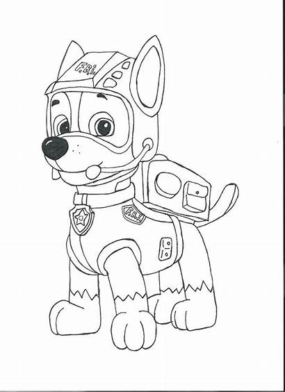 Paw Patrol Coloring Pages Chase Sheets