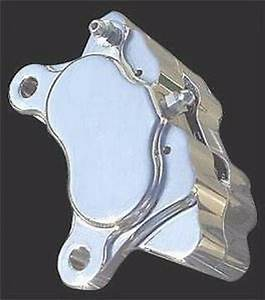 Chrome Brake Caliper 4 Piston Front Harley Softail Fxst