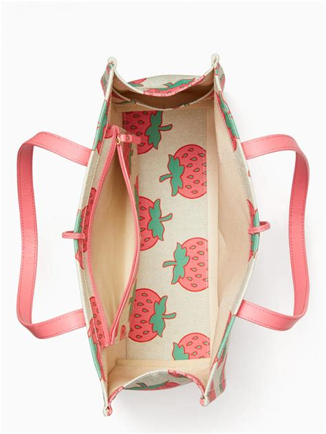 kate spade totes womens picnic perfect strawberry canvas