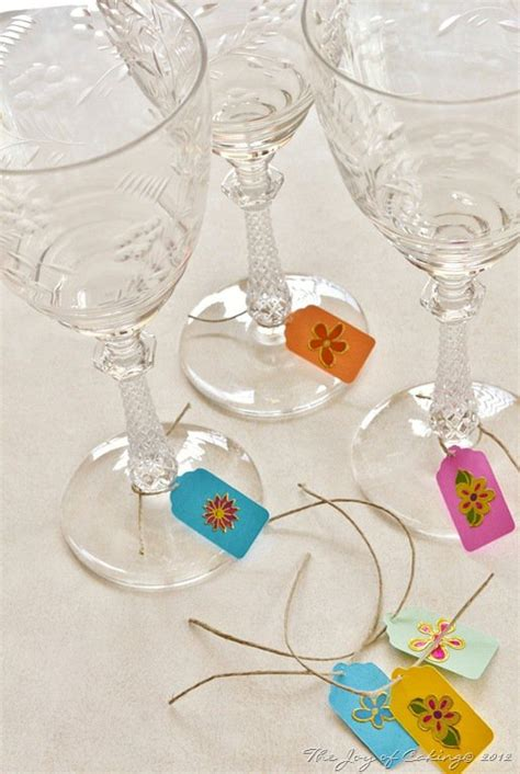 diy wine glasses charms  add  personal charm
