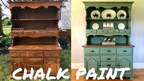 hutch makeover wmagnolia home chalk paint youtube