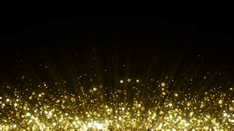 Particles Gold Glitter Bokeh Award Dust Abstract