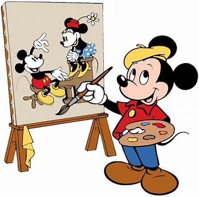 Mickey Painting Clipart Mouse Disney Clip Disneyclips
