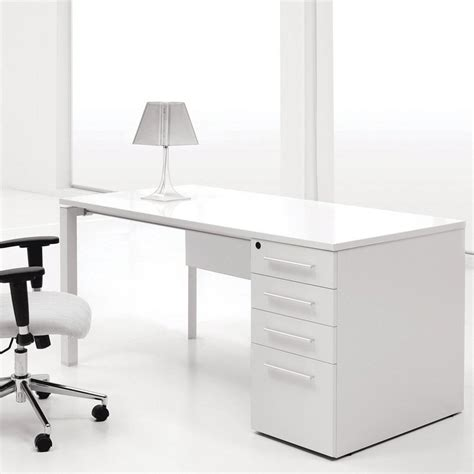 modern white desk with drawers modern cherry home office computer desk in white finishing