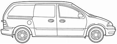 Coloring Minivan Clipart Vans Ford Windstar Transportation
