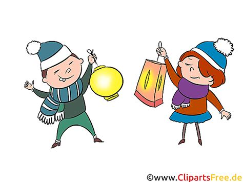 martinstag laterenumzug clipart illustration bild