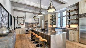 15 outstanding industrial kitchens home design lover With kitchen cabinet trends 2018 combined with metal wall art words love