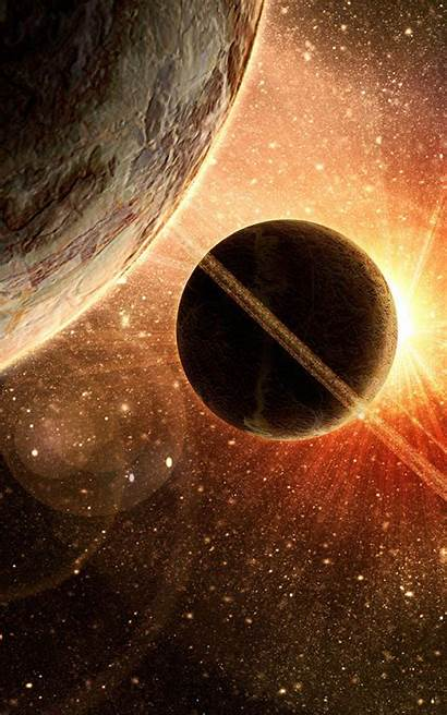 Android Space Wallpapers Squares Deep Eclipse R2