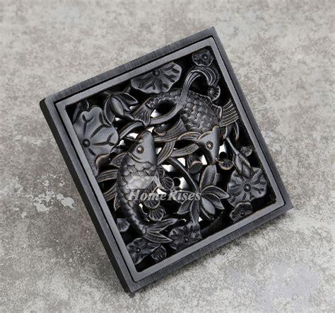 Designer Oil Rubbed Bronze Shower Drain Square Shaped