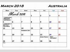 March 2018 Calendar With Holidays Calendar 2018