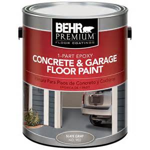 Behr Premium 1 Gal 902 Slate Gray 1 Part Epoxy Concrete Garage Floor Paint 90201 Effective Porch Flooring Options