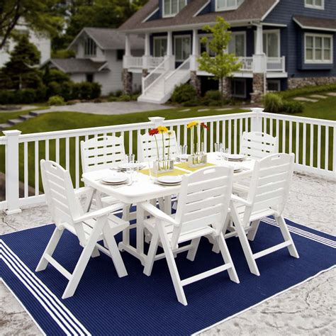 polywood nautical high   chair dining set dining sets