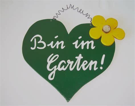 Schild Herz  Garten  Originelle Deko & Geschenke