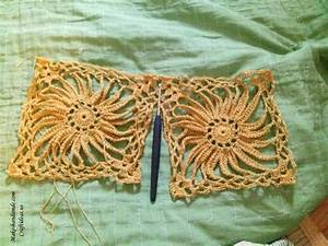 Crochet Lace Sunflower Pullover For Beach
