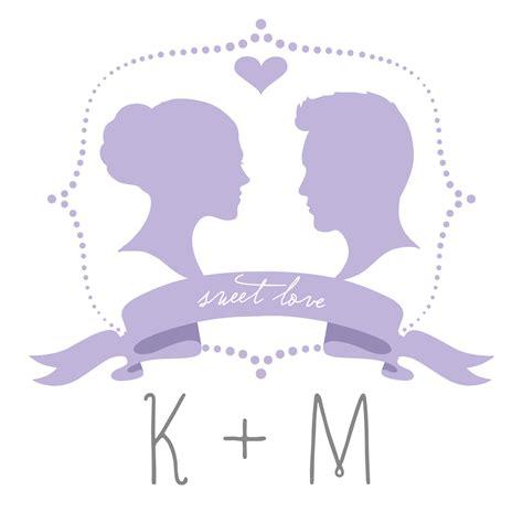 printable diy silhouette wedding monogram template wedding day giveaways