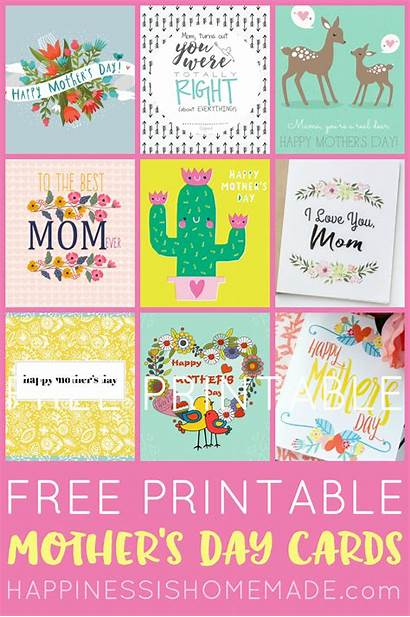 Cards Printable Mothers Mother Homemade Happiness