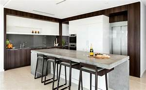 Beton Pour Plan De Travail : b ton cir pour plan de travail de cuisine 25 id es modernes ~ Premium-room.com Idées de Décoration
