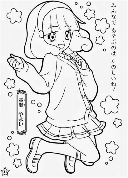 Coloring Glitter Force Zerochan Precure Smile Anime